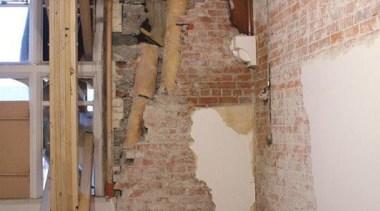 NOMINEERegistry Building (2 of 4) - Hays Commercial beam, ceiling, floor, flooring, room, stairs, wall, wood, brown, gray