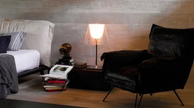 Concreto Cinza 1200x200mm porcelain tiles. - Concreto Cinza ceiling, chair, floor, flooring, furniture, hardwood, house, interior design, laminate flooring, lighting, living room, product design, room, table, tile, wall, wood, wood flooring, black, gray