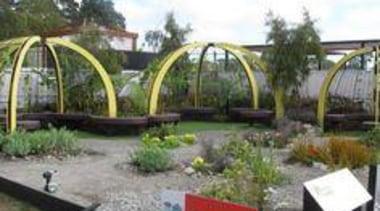 At Ellerslie International Flower Show - At Ellerslie botanical garden, garden, outdoor structure, plant, tree, white