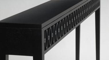 James Salmond Console table - James Salmond Console desk, furniture, line, product, black, white