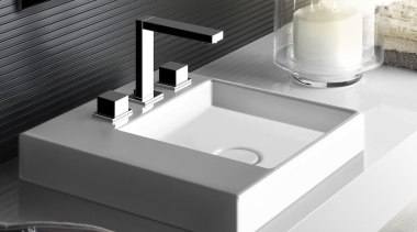 For unlimited freedom in bathroom design, Gessi North angle, bathroom sink, plumbing fixture, product, sink, tap, white, black, gray