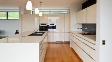 Khandallah Kitchen - Khandallah Kitchen - cabinetry   cabinetry, countertop, cuisine classique, floor, flooring, hardwood, interior design, kitchen, real estate, room, wood flooring, gray