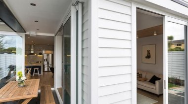 Simpler. Faster. Proven Weathertight. - A-lign Concealed Fix door, floor, home, house, interior design, real estate, siding, window, white, gray
