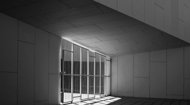 Library in Galicia, Spain - Library in Galicia, architecture, black, black and white, ceiling, daylighting, daytime, glass, light, lighting, line, monochrome, monochrome photography, structure, wall, black, gray