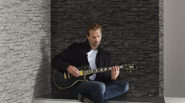 Modern Style Range - furniture   guitar   furniture, guitar, music, musical instrument, musical instrument accessory, musician, plucked string instruments, sitting, table, wall, gray, black