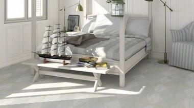 Argyle Geometric pattern porcelain tiles in 218x893mm plank bed frame, floor, flooring, furniture, hardwood, interior design, laminate flooring, tile, wall, wood, wood flooring, gray