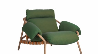 Stephen Burks and Roche Bobois collaborated on creating chair, furniture, white