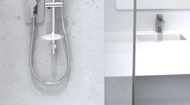 Aria Versadisc™ Exposed Flexishower gives you a tidier angle, bathroom, bathroom accessory, bathroom sink, plumbing fixture, tap, white