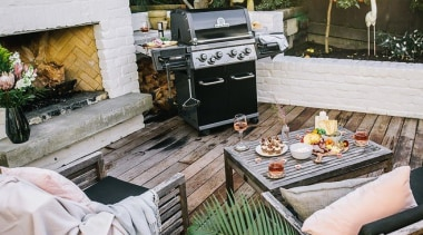 Made in Canada, every Broil King BBQ feature barbecue, barbecue grill, furniture, outdoor grill, outdoor structure, patio, table, gray, brown