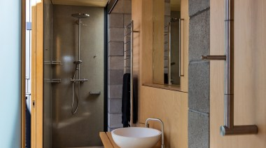 Takapuna, Auckland (designed in association with Rachael Rush) architecture, bathroom, house, interior design, real estate, room, brown, gray