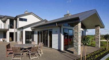 A-lign Nail Fix has an Extra High Wind cottage, estate, facade, home, house, property, real estate, siding, villa, blue, gray