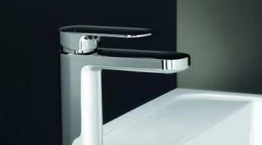 cerchionewv65038hero.jpg - cerchionewv65038hero.jpg - angle | bathroom sink angle, bathroom sink, hardware, plumbing fixture, product, product design, tap, black, white