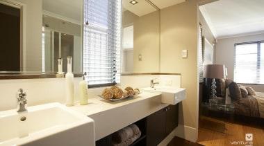 Ensuite design. - The Connoisseur Display Home - bathroom, home, interior design, real estate, room, sink, brown