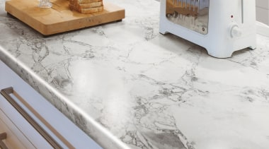 Clean and classic, Bianca Luna quartzite is distinguished countertop, floor, flooring, product design, table, white