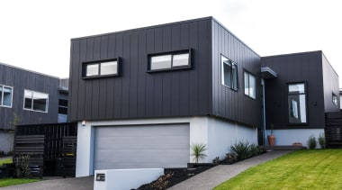 Stria Cladding - Stria Cladding - architecture | architecture, building, elevation, facade, home, house, property, real estate, residential area, siding, white, gray, black
