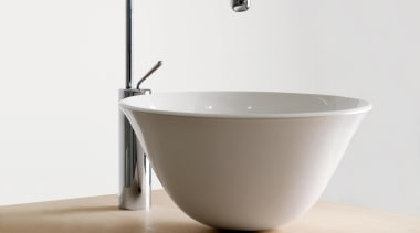 gessi goccia chrome deck .jpg - gessi_goccia_chrome_deck_.jpg - bathroom sink, ceramic, plumbing fixture, product design, sink, tap, white