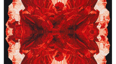 The Poppy Night wallhanging is inspired by macro cut flowers, flower, flower arranging, peach, petal, red, red