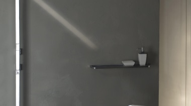 For a total look, the Mimi collection includes angle, floor, light, light fixture, lighting, plumbing fixture, product design, tap, wall, gray, black