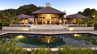 picture 092a - picture_092a - arecales | cottage arecales, cottage, estate, hacienda, home, house, landscape, leisure, lighting, mansion, palm tree, property, real estate, reflecting pool, reflection, residential area, resort, swimming pool, villa, water, brown