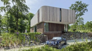 Cloud 9 Villa, Bloemendaal, Netherlands123DV - World Architecture architecture, cottage, facade, home, house, property, real estate, gray