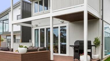 Tru-Pine - door | home | house | door, home, house, porch, real estate, siding, window, gray, white