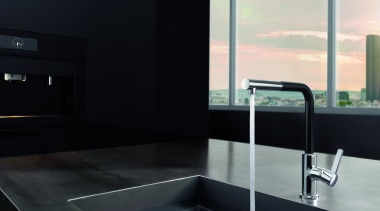 Foreno 2 - angle | architecture | bathroom angle, architecture, bathroom, countertop, glass, interior design, plumbing fixture, sink, tap, black