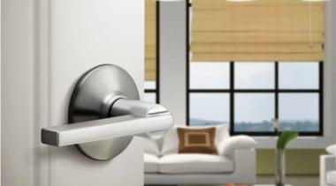 Schlage F Series Latitude Lever Set. Zinc Diecast. furniture, interior design, product, product design, tap, white, gray