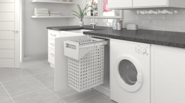 Tanova Simplex pull out laundry system options are clothes dryer, home appliance, kitchen, laundry, laundry room, major appliance, product, product design, room, washing machine, white