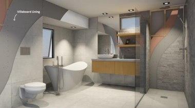 Villaboard Lining - Villaboard Lining 5 - architecture architecture, bathroom, floor, interior design, plumbing fixture, product design, room, gray