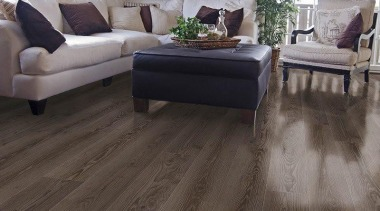 """Neo by Classen"" introduces a new generation floor, flooring, hardwood, home, interior design, laminate flooring, living room, tile, wood, wood flooring, gray, black"