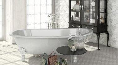 3D geometric patterned floor tiles can be used bathroom, bathroom accessory, ceramic, floor, flooring, furniture, interior design, plumbing fixture, room, tap, tile, white