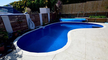 Gold Award recipient for Residential Swimming Pools under backyard, composite material, leisure, property, swimming pool, water, blue, white