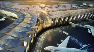 Sordo Madaleno Arquitectos and Pascall+Watson have shared their aerospace engineering, air travel, airline, airport, airport terminal, architecture, aviation, building, metropolis, structure, gray