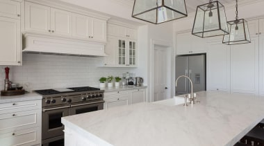 Winner – Best Traditional/Classic Kitchen Design- Winner – cabinetry, countertop, cuisine classique, floor, flooring, home, interior design, kitchen, room, gray