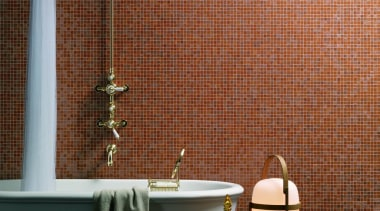 Camilla bathroom. - Bisazza Range - bathroom | bathroom, ceramic, flooring, interior design, light fixture, room, tile, wall, brown