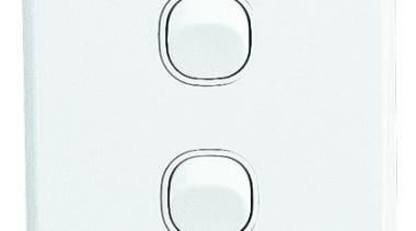 Classic C2000 Series double switch White - C2032V light switch, product, white