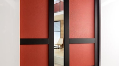Create instant memories with EcoDomo leathers and belt door, interior design, sliding door, white, red