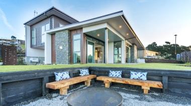 Hybrid Homes & Living cottage, estate, home, house, real estate, window, teal, white