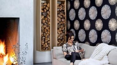 Chacran Range - Chacran Range - hearth | hearth, home, interior design, living room, pattern, wall, gray