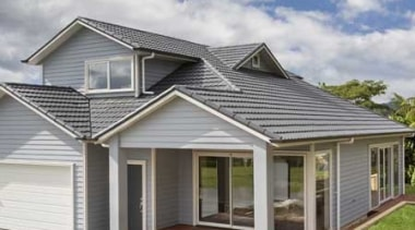Landmark Homes Ohope Design - Landmark Homes Ohope cottage, daylighting, elevation, facade, farmhouse, home, house, property, real estate, roof, siding, gray