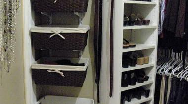 WALK IN CLOSET - Closet - walk in closet, furniture, room, gray, black