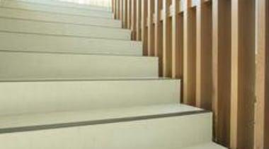 Floor featuring Naturali travertino avorio. - Network Tasman architecture, baluster, daylighting, floor, flooring, handrail, interior design, stairs, wall, wood, yellow