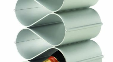 Echelon modular bottle storage units stacks and nest product, product design, white