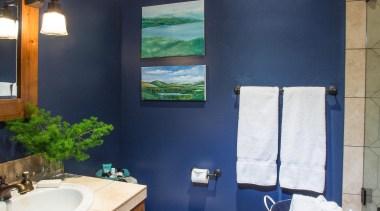 Mountain Modern - Bathroom - bathroom | ceiling bathroom, ceiling, home, interior design, room, wall, window, blue