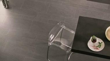 Basaltina kitchen floor tiles closeup - Natural Stone floor, flooring, hardwood, interior design, laminate flooring, product design, table, tile, wall, wood flooring, gray, black