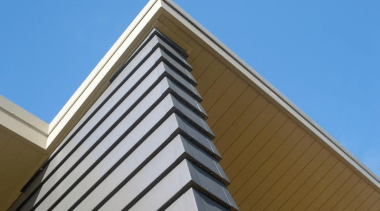 HardieGroove Soffit Lining - HardieGroove Soffit Lining 1 angle, architecture, building, commercial building, corporate headquarters, daylighting, daytime, facade, landmark, line, roof, siding, sky, structure, teal