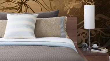 Gold Interieur - Italian Color Range - bed bed, bed frame, bed sheet, bedding, bedroom, duvet cover, floor, flooring, furniture, interior design, mattress, room, suite, textile, wall, wallpaper, wood, brown
