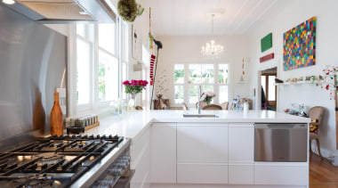 stainless splashback, corian - Mak kitchen - countertop countertop, home, interior design, kitchen, real estate, white