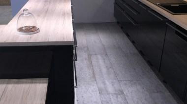 Concreate GKC CF101 5 - Concreate_GKC_CF101_5 - countertop countertop, floor, flooring, furniture, hardwood, kitchen, laminate flooring, sink, table, tile, wood, wood flooring, wood stain, gray, black