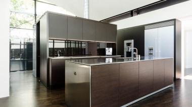 Pepper Design, MelbourneSee the full story furniture, interior design, kitchen, white, black